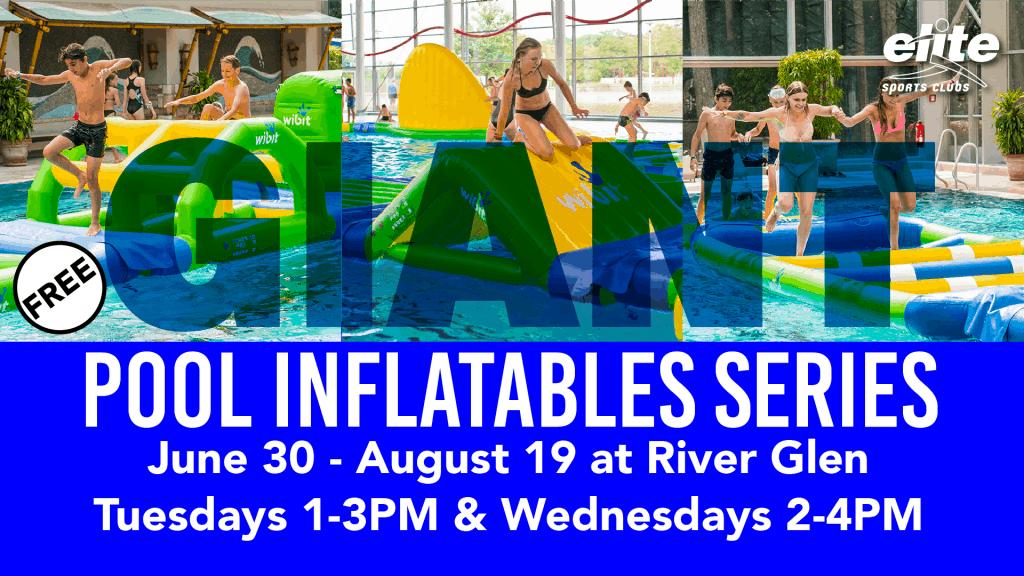 Giant Pool Inflatables at Elite River Glen Summer 2020