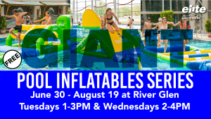 Giant Pool Inflatables at Elite River Glen Summer 2020