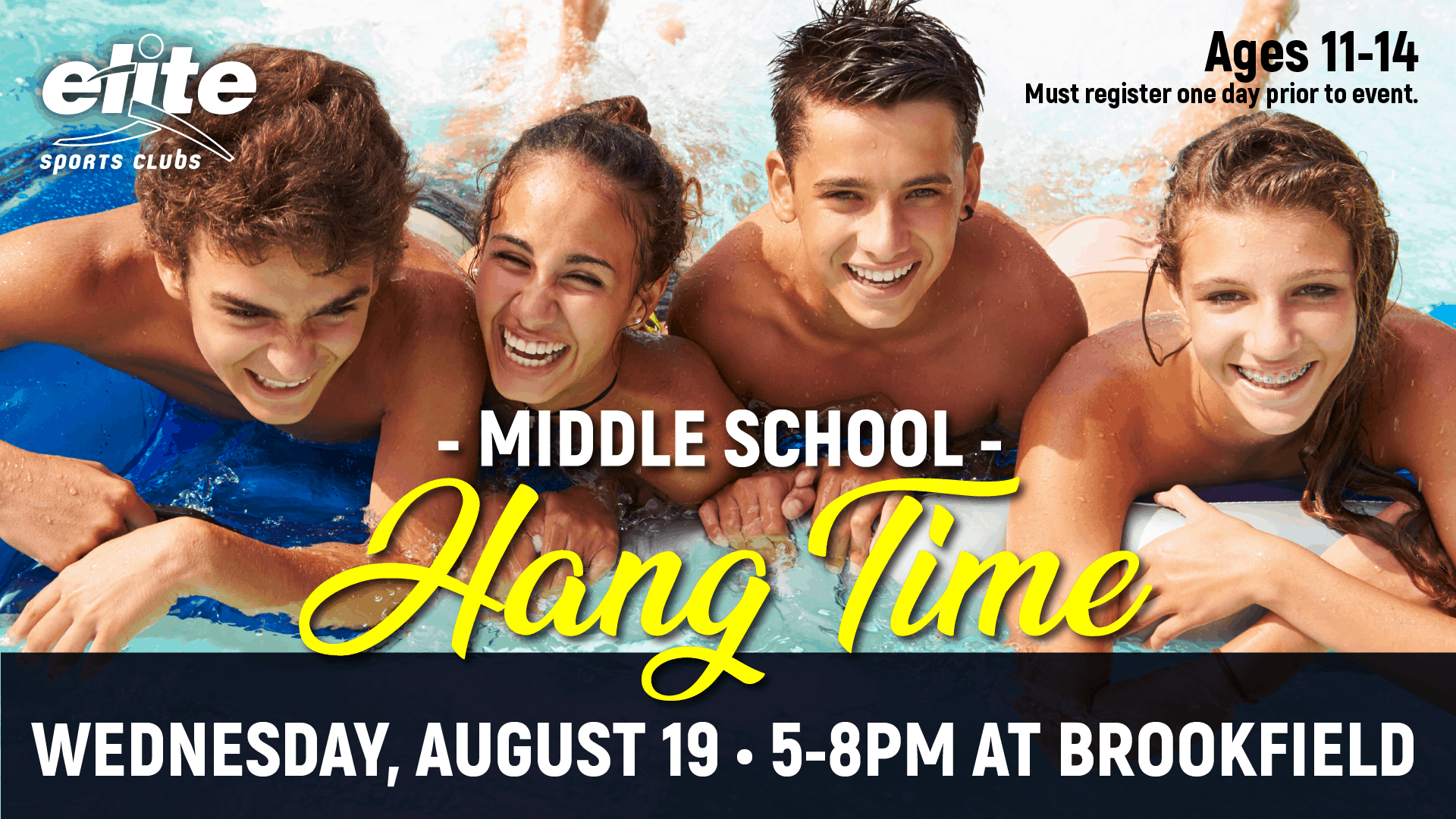 Middle School Hang Time - Elite Brookfield August 2020