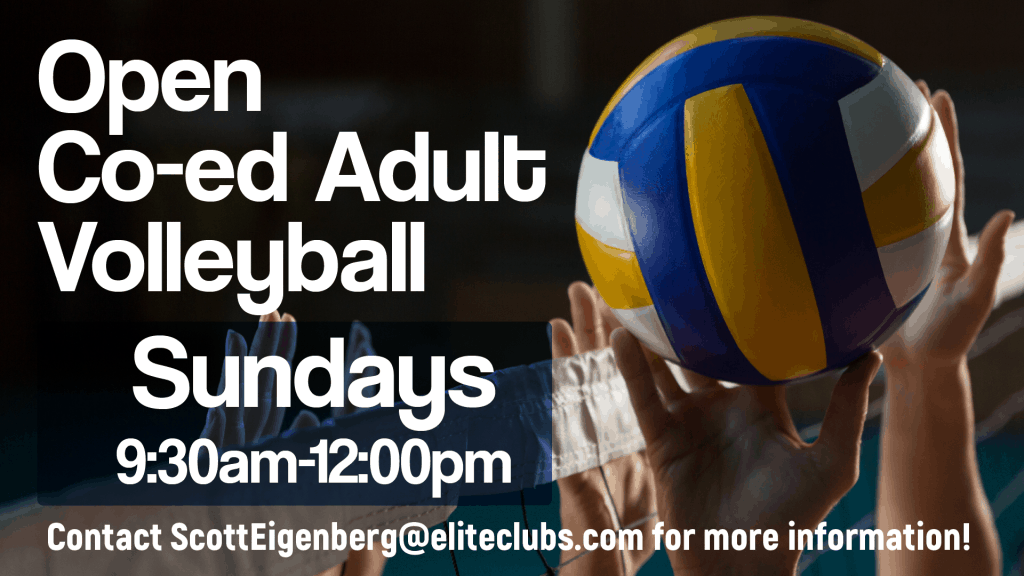 Open Adult Co-ed Volleyball - Elite Brookfield - Summer 2020
