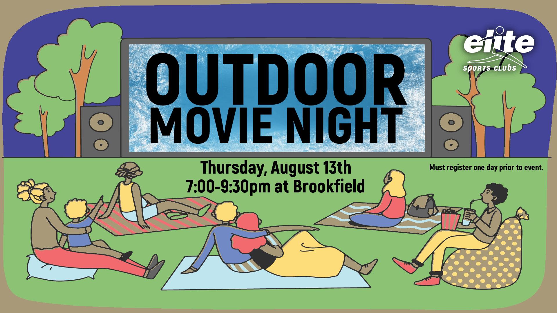 Outdoor Movie Night - Elite Brookfield - August 2020