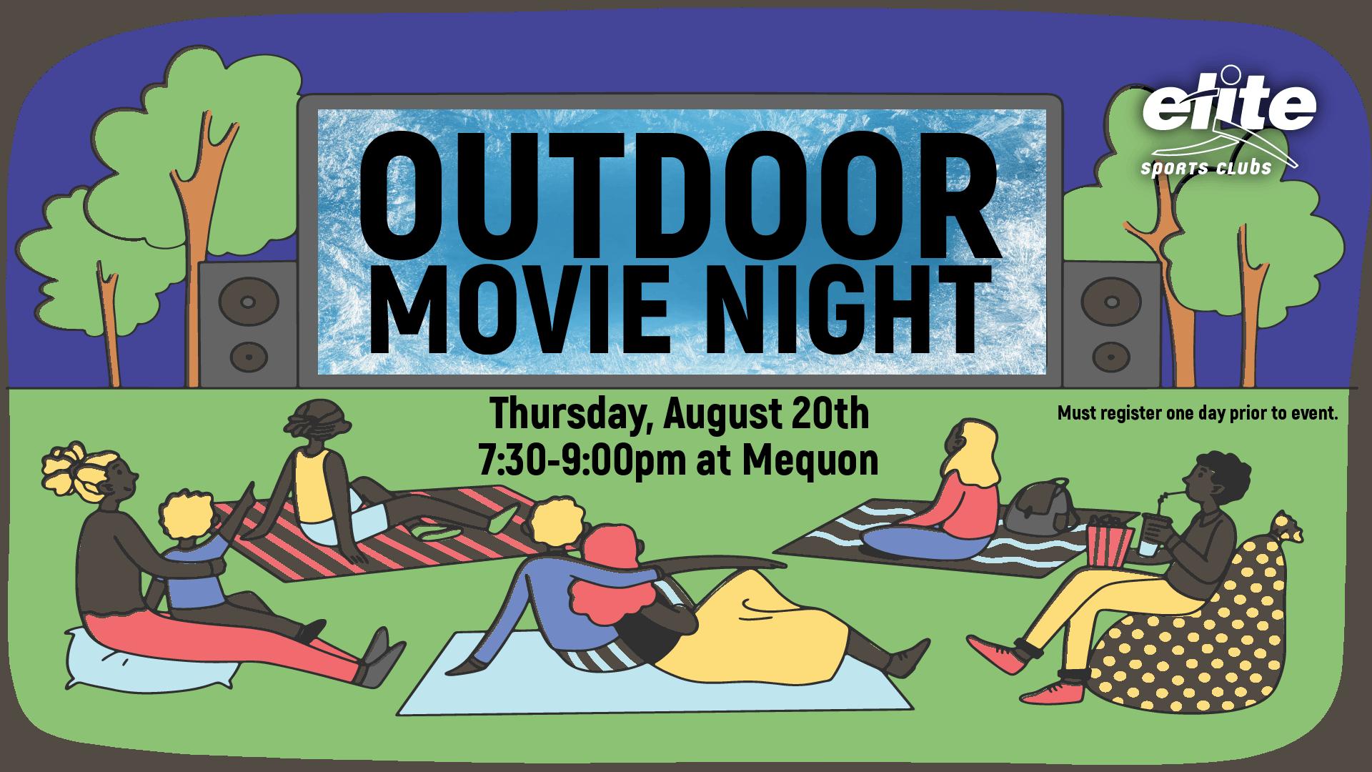 Outdoor Movie Night - Elite Mequon - August 2020