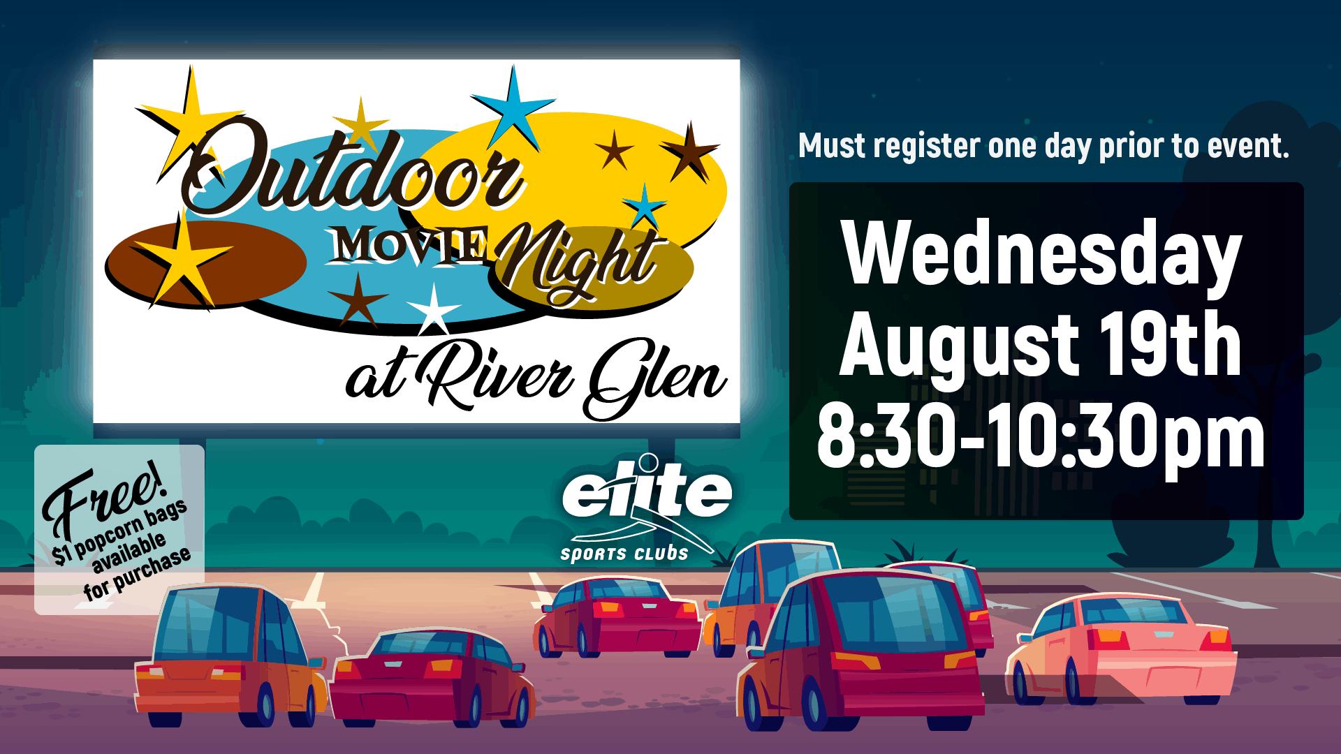 Outdoor Movie Night - Elite River Glen - August 2020