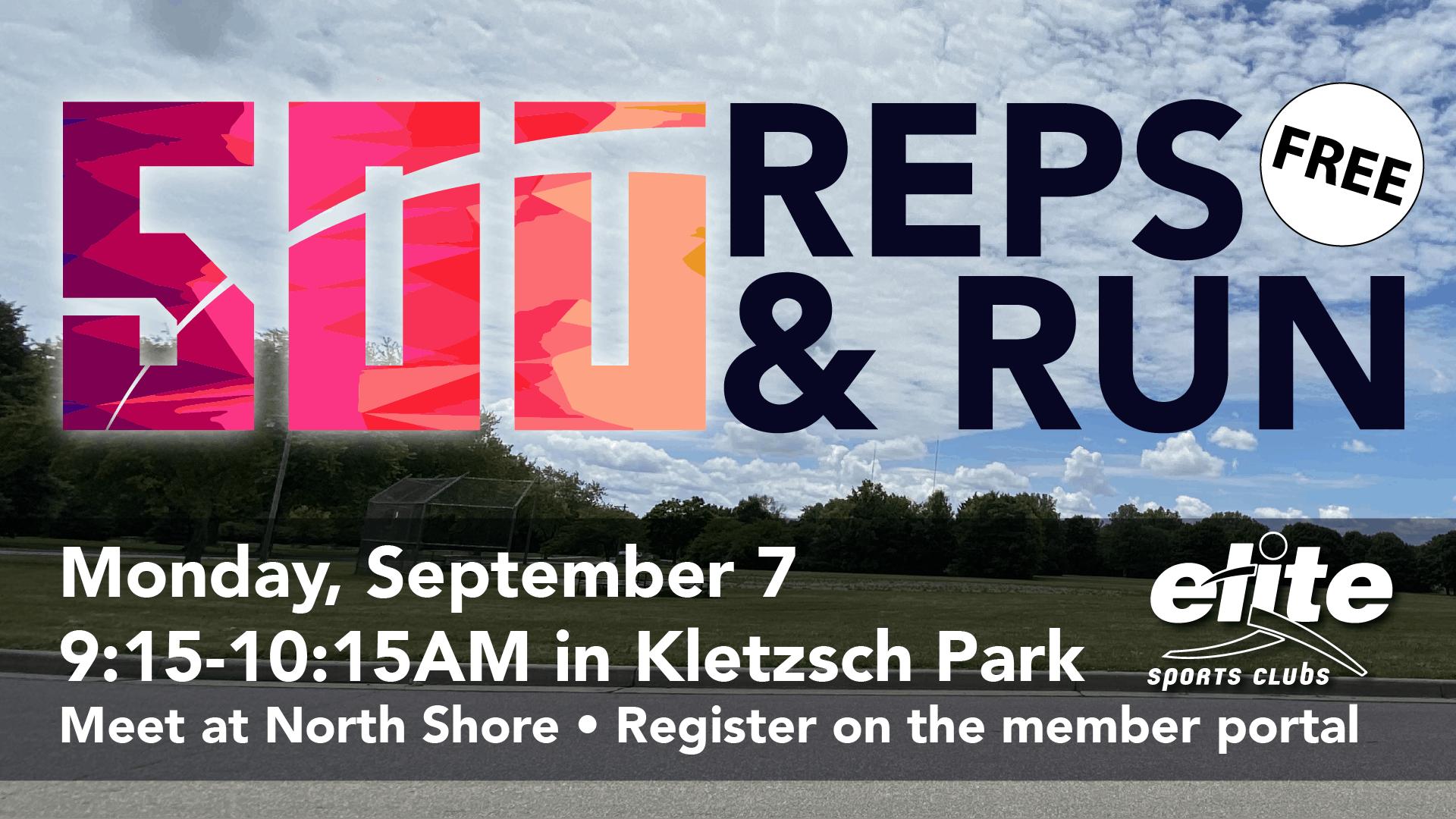 500 Reps and Run - Elite North Shore - September 2020