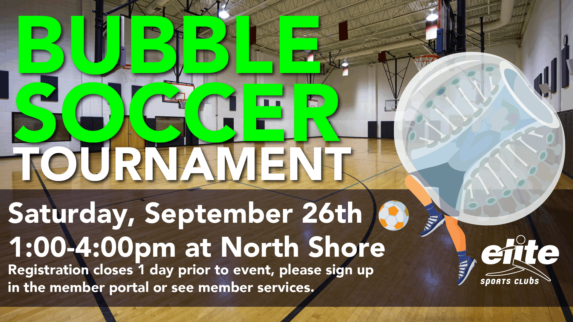 Bubble Soccer Tournament - Elite North Shore - September 2020