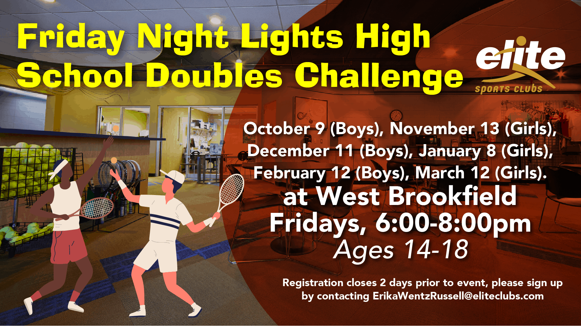 Friday Night Lights High School Doubles - Elite West Brookfield - 2020-2021