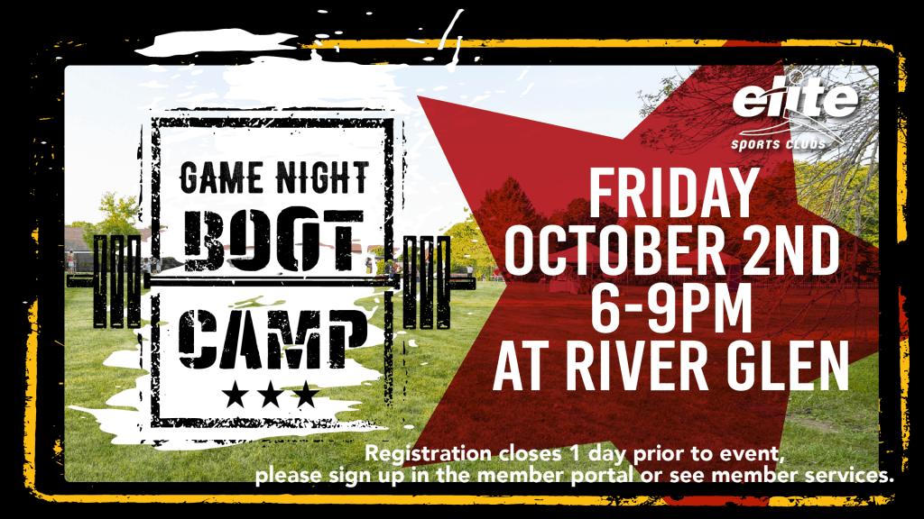 Game Night Boot Camp - Elite River Glen - October 2020