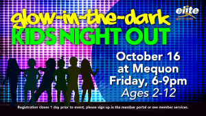 Glow in the Dark Kids Night Out - Elite Mequon - October 2020