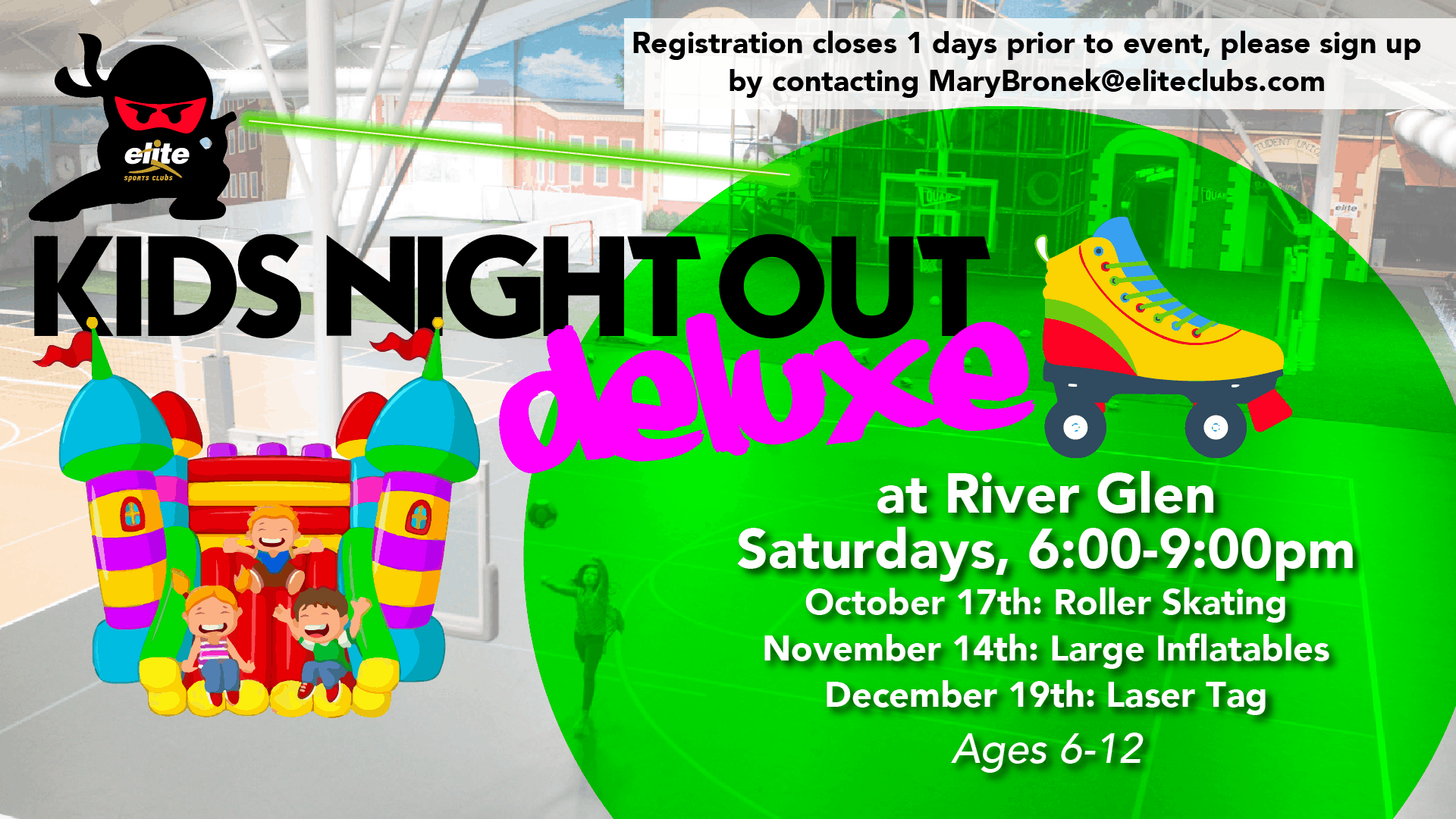 Kids Night Out Deluxe - Elite River Glen - Fall 2020