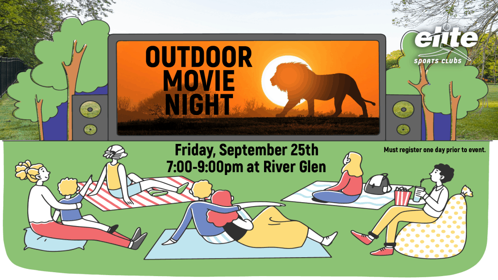 Outdoor Movie Night - Elite River Glen - September 2020