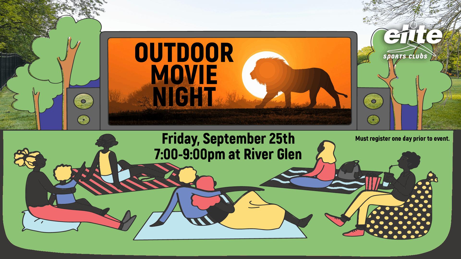 Outdoor Movie Night - Elite River Glen - September 2020