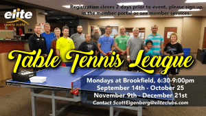 Table Tennis League - Elite Brookfield - Fall 2020