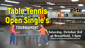 Table Tennis Tournament - Elite Brookfield - October 2020