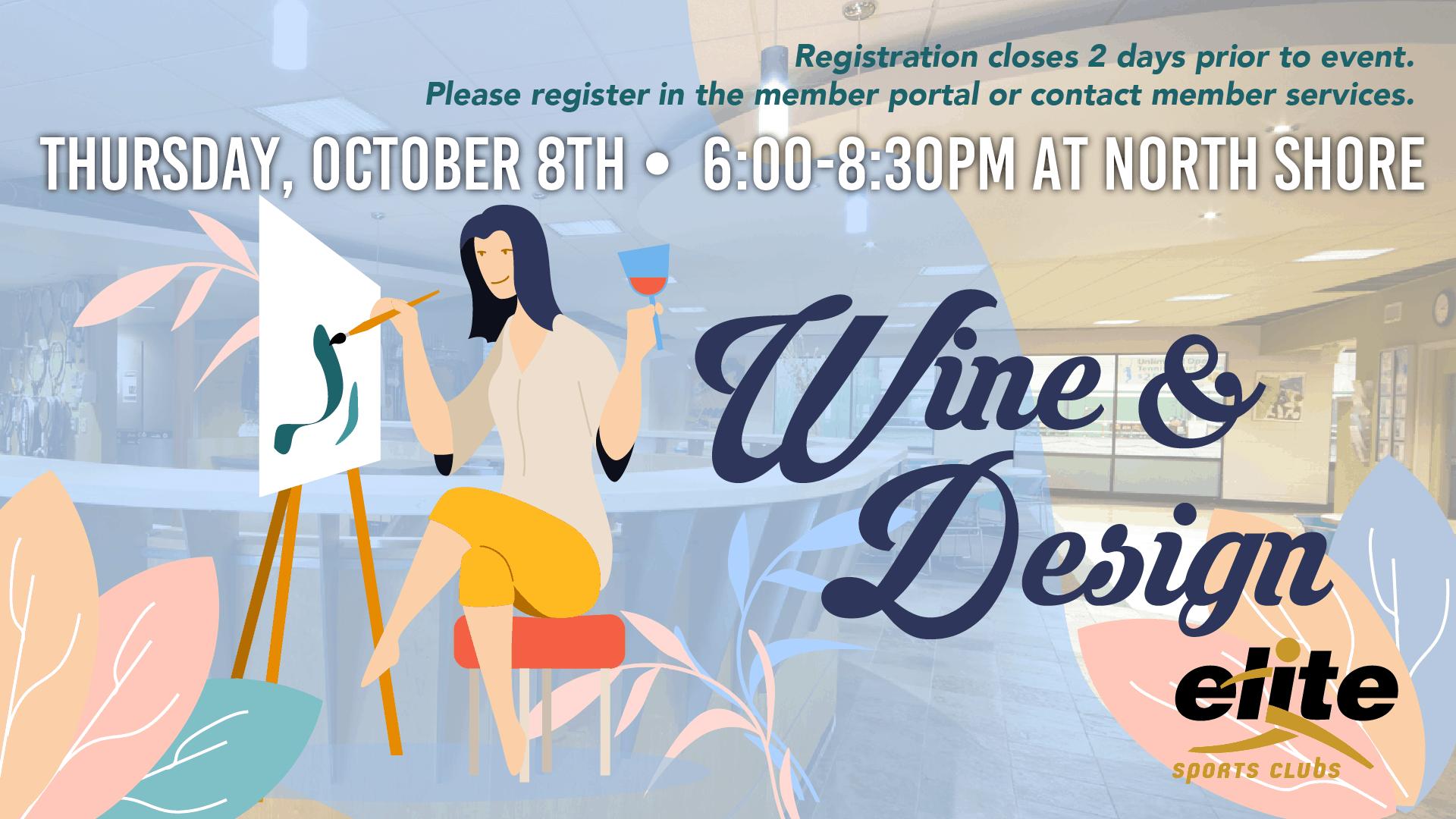 Wine and Design - Elite North Shore - October 2020