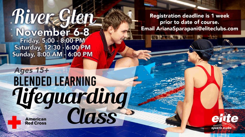 Blended Learning Lifeguarding Class - Elite River Glen - November 2020