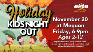 Holiday Kids Night Out - Elite Mequon - November 2020
