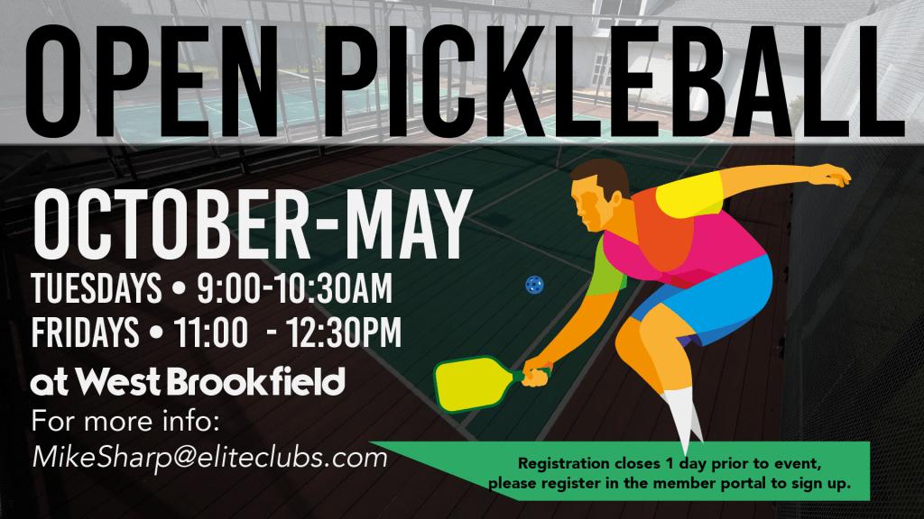 Open Pickleball - Elite West Brookfield - October 2020