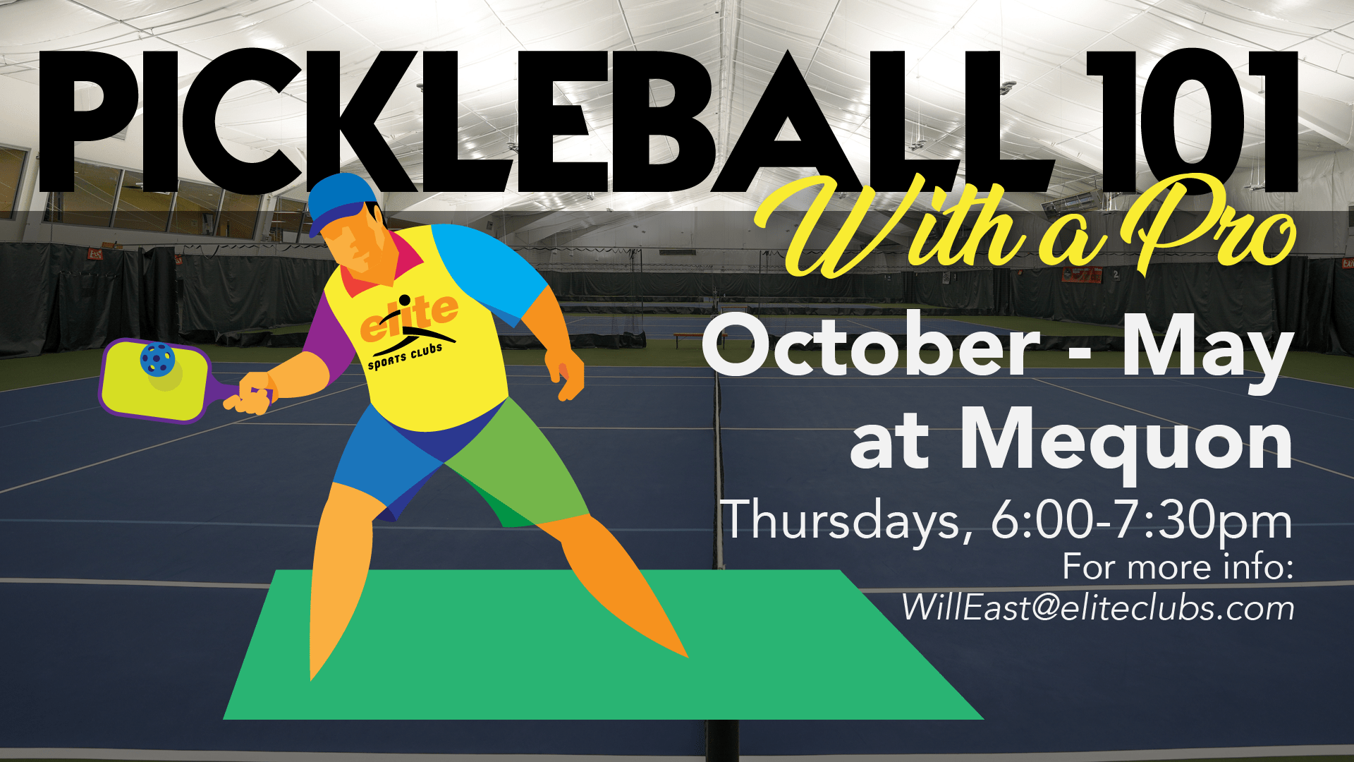 Pickleball with a Pro - Elite Mequon - 2020-2021