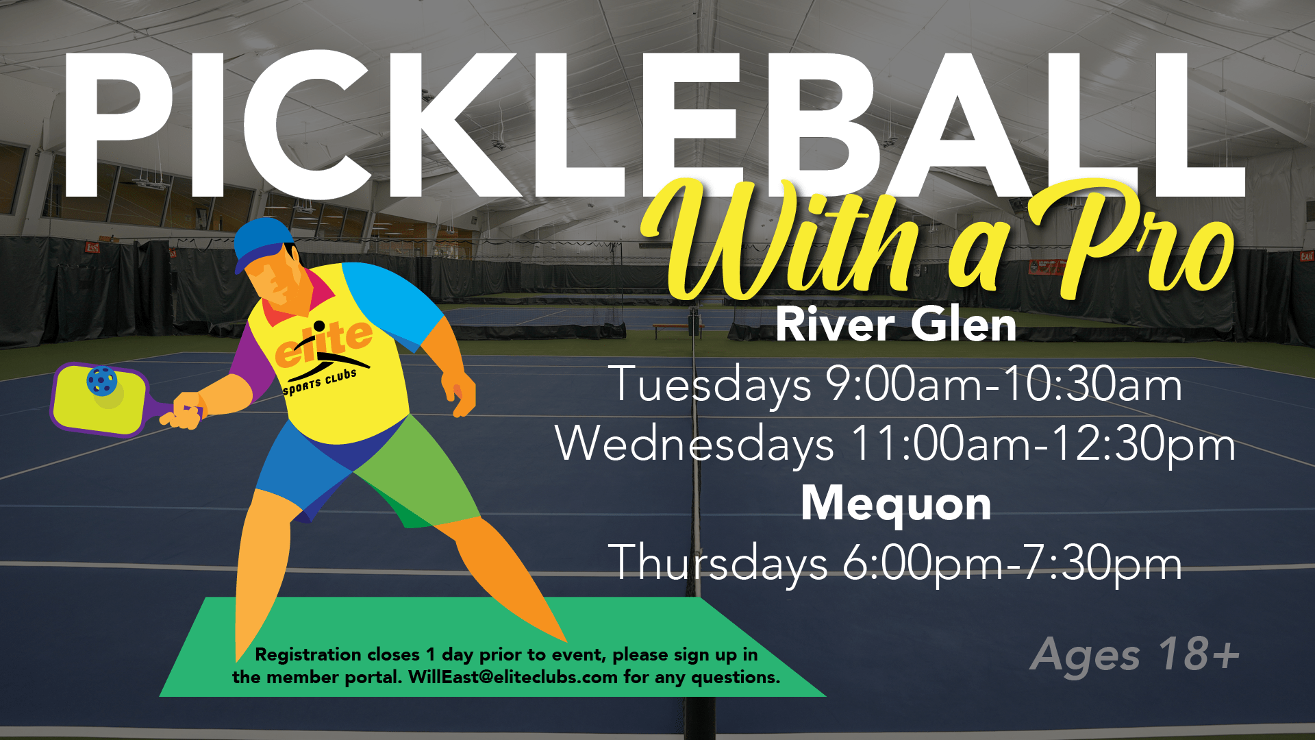 Pickleball with a Pro - Elite Mequon River Glen - Spring 2021