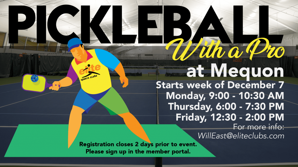 Pickleball with a Pro - Elite Mequon - Winter 2020