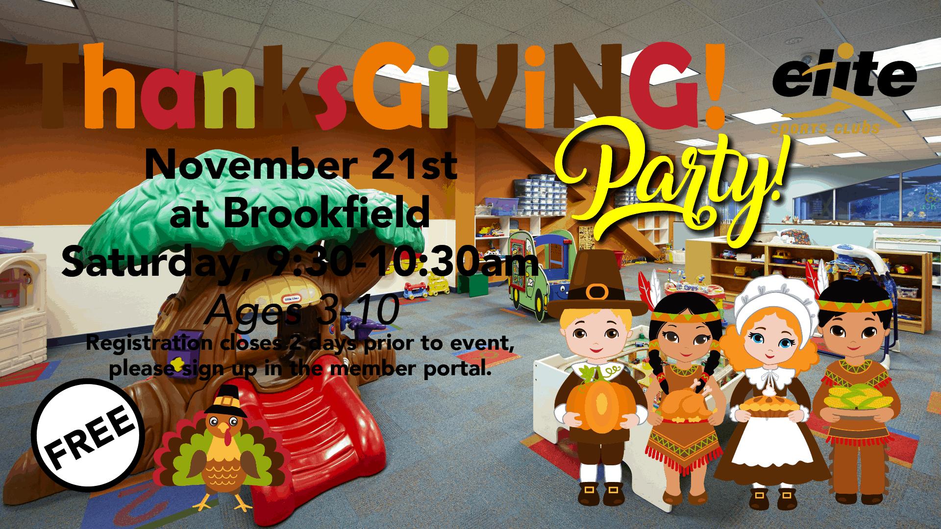 Thanksgiving Party - Elite Brookfield - November 2020