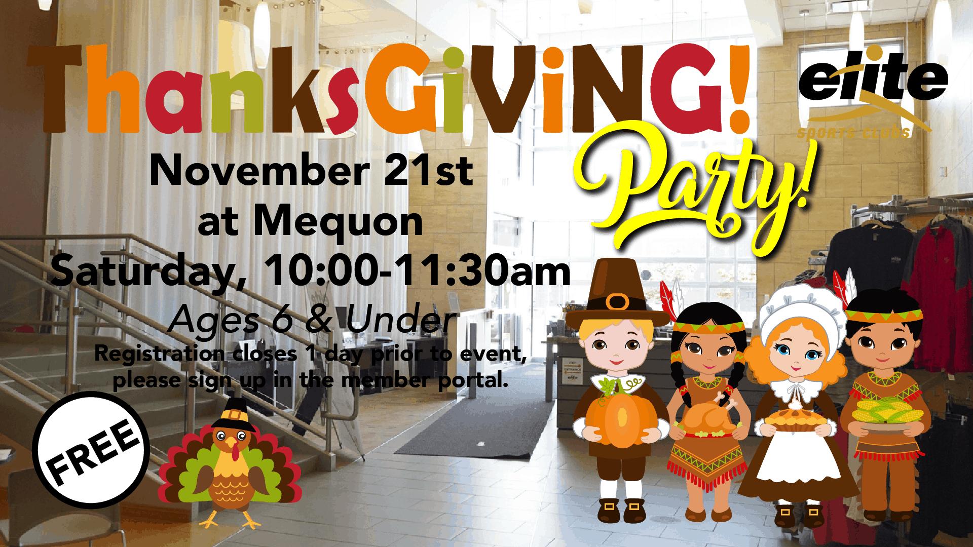 Thanksgiving Party - Elite Mequon - November 2020