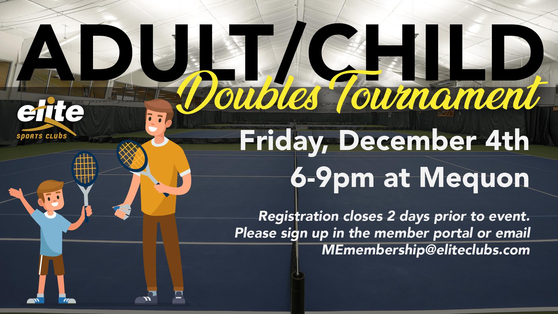 Adult Child Doubles Tournament - Elite Mequon - December 2020