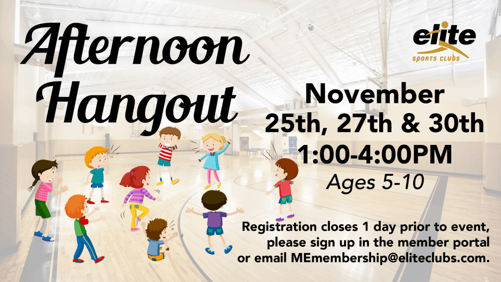 Afternoon Hangout - Elite Mequon - November 2020
