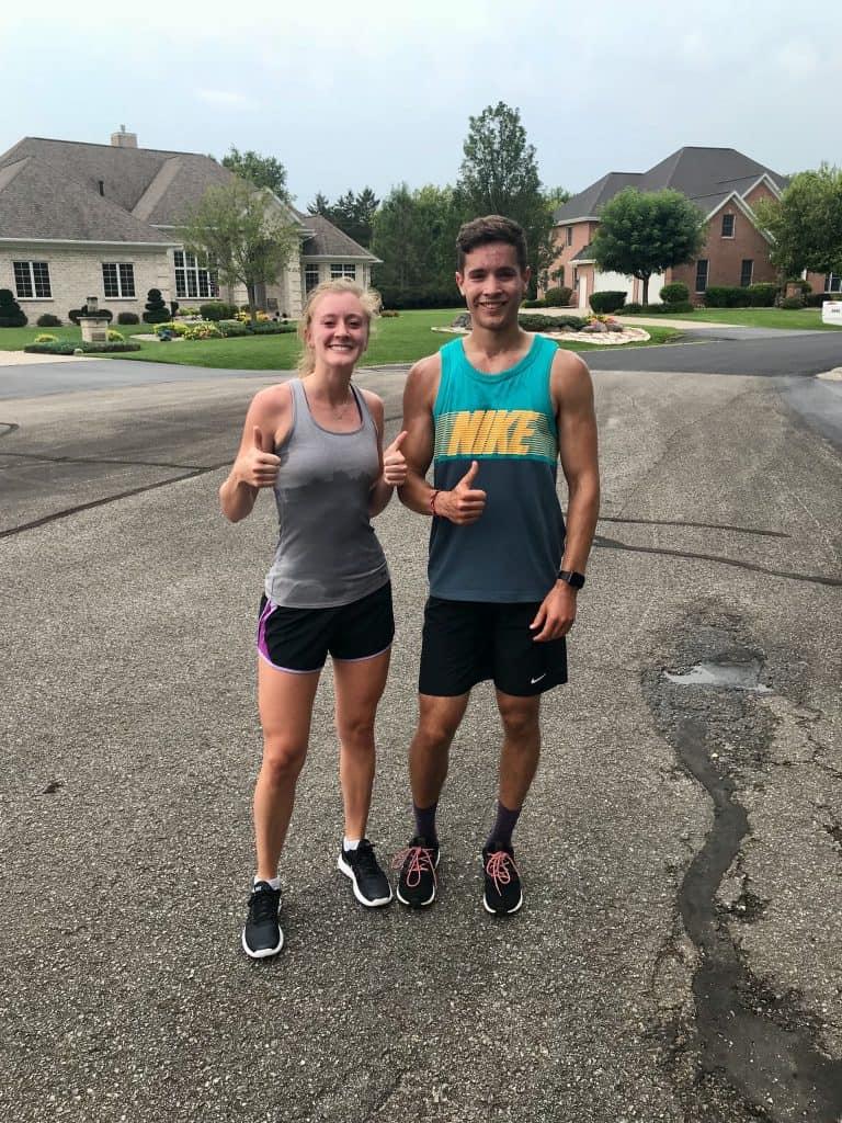 Danielle Hawi after a run