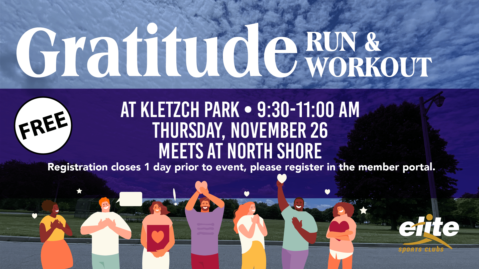 Gratitude Run Workout - Elite North Shore - November 2020
