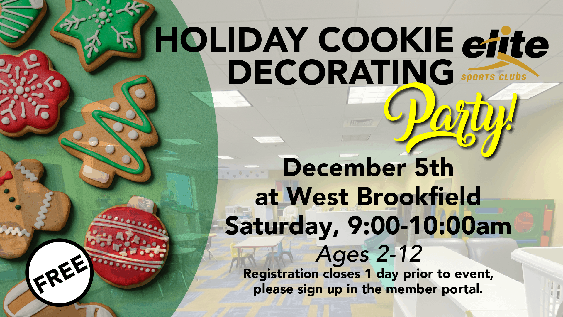 Holiday Cookie Decorating - Elite West Brookfield - December 2020