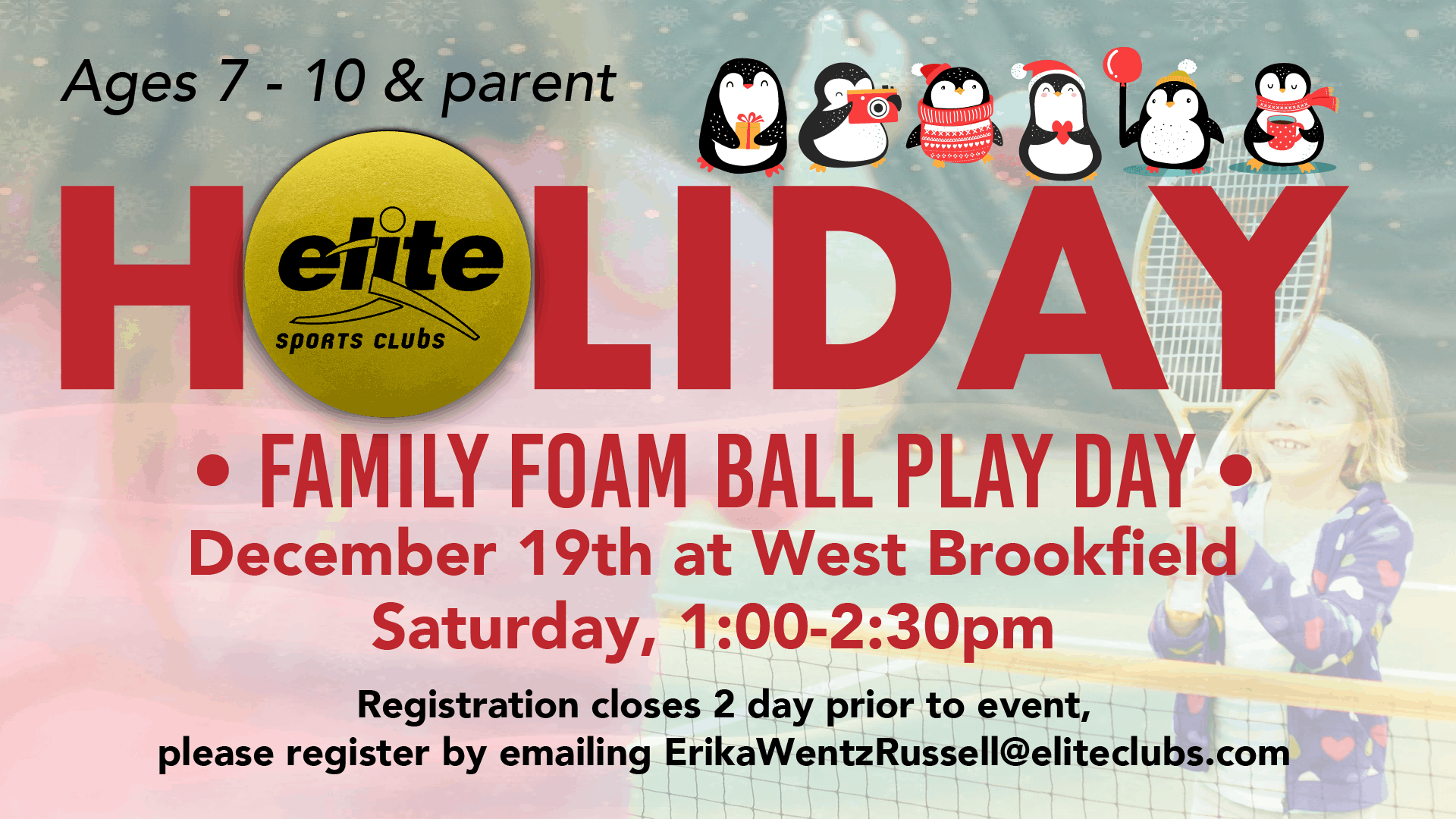 Holiday Family Foam Ball Play Day - Elite West Brookfield - December 2020