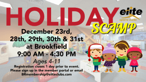 Holiday SCAMP - Elite Brookfield - December 2020