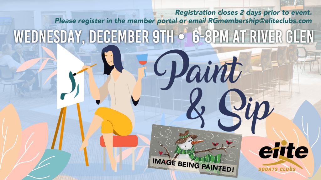 Paint and Sip - Elite River Glen - December 2020