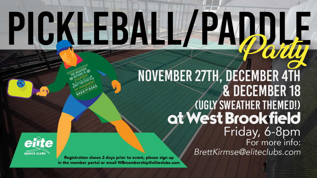 Pickleball Paddle Party - Elite West Brookfield - Fall 2020 (updated)