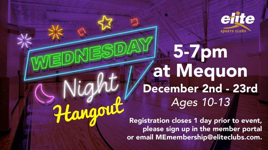 Wednesday Night Hangout - Elite Mequon - December 2020