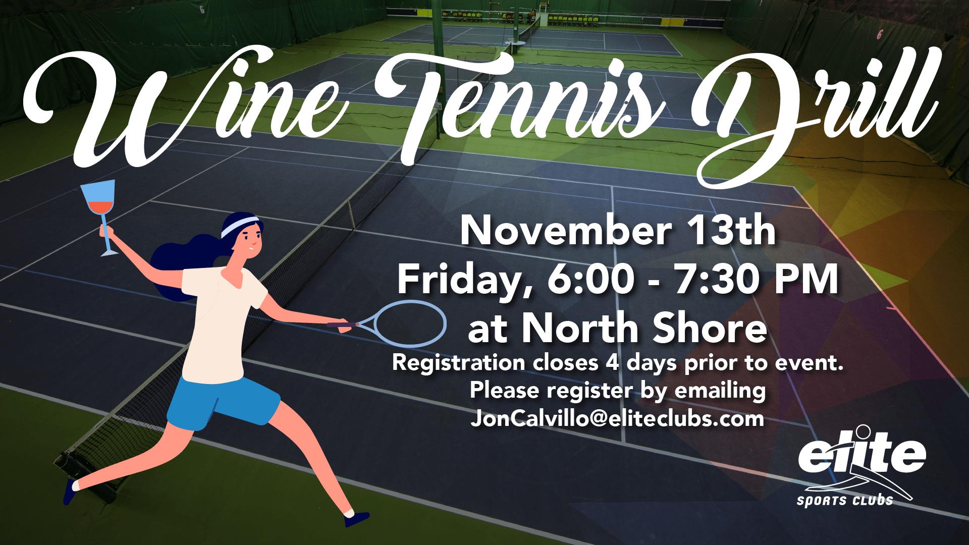 Wine Tennis Drill - Elite North Shore - November 2020