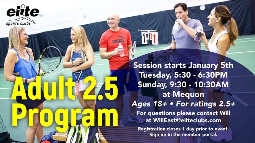 Adult 2.5 Program - Elite Mequon - January 2021