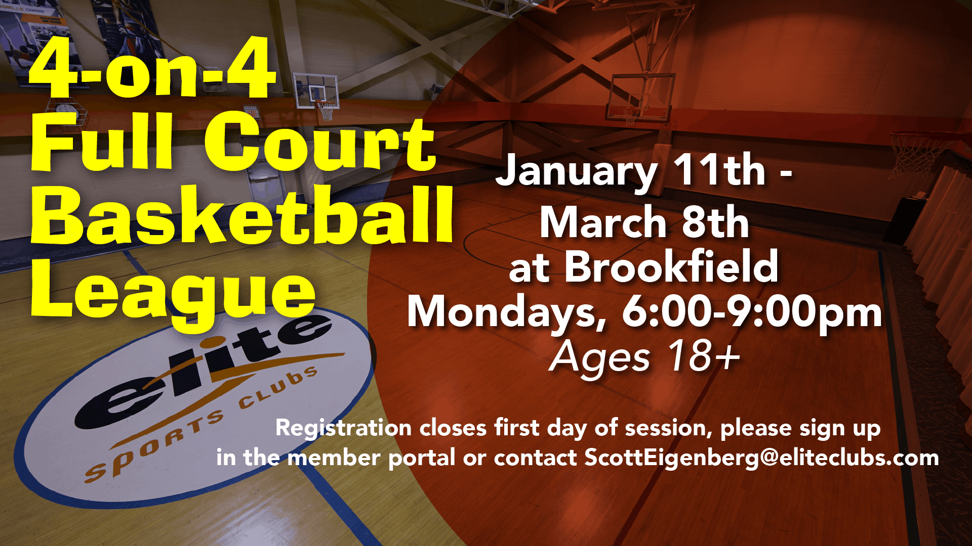 Full Court Basketball League - Elite Brookfield - January 2020