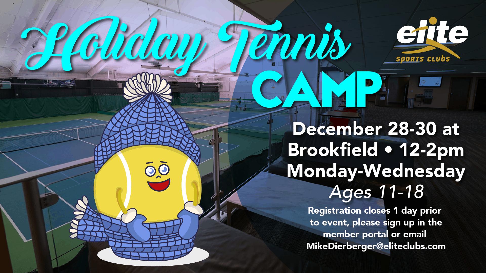 Holiday Tennis Camp - Elite Brookfield - December 2020