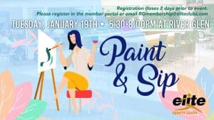Paint and Sip - Elite River Glen - January 2021