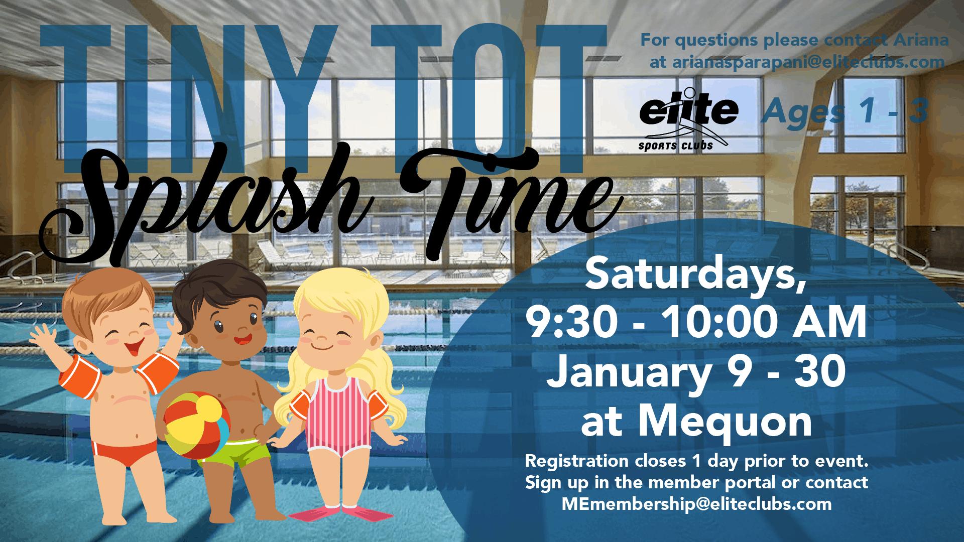 Tiny Tot Splash Time - Elite Mequon - January 2021