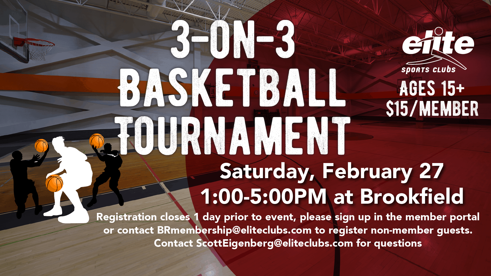 3 on 3 Basketball Tournament - Elite Brookfield - February 2021