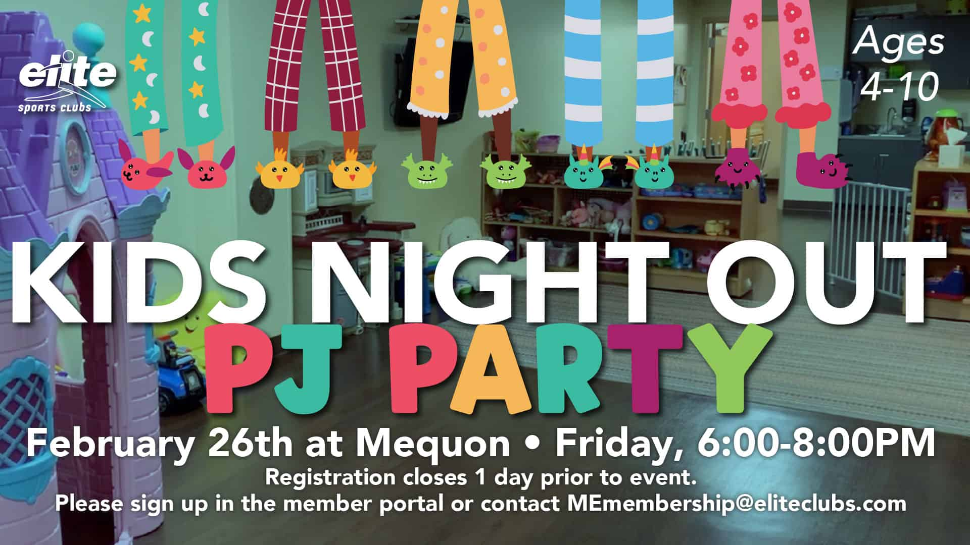 Kids Night Out PJ Party - Elite Mequon - February 2021