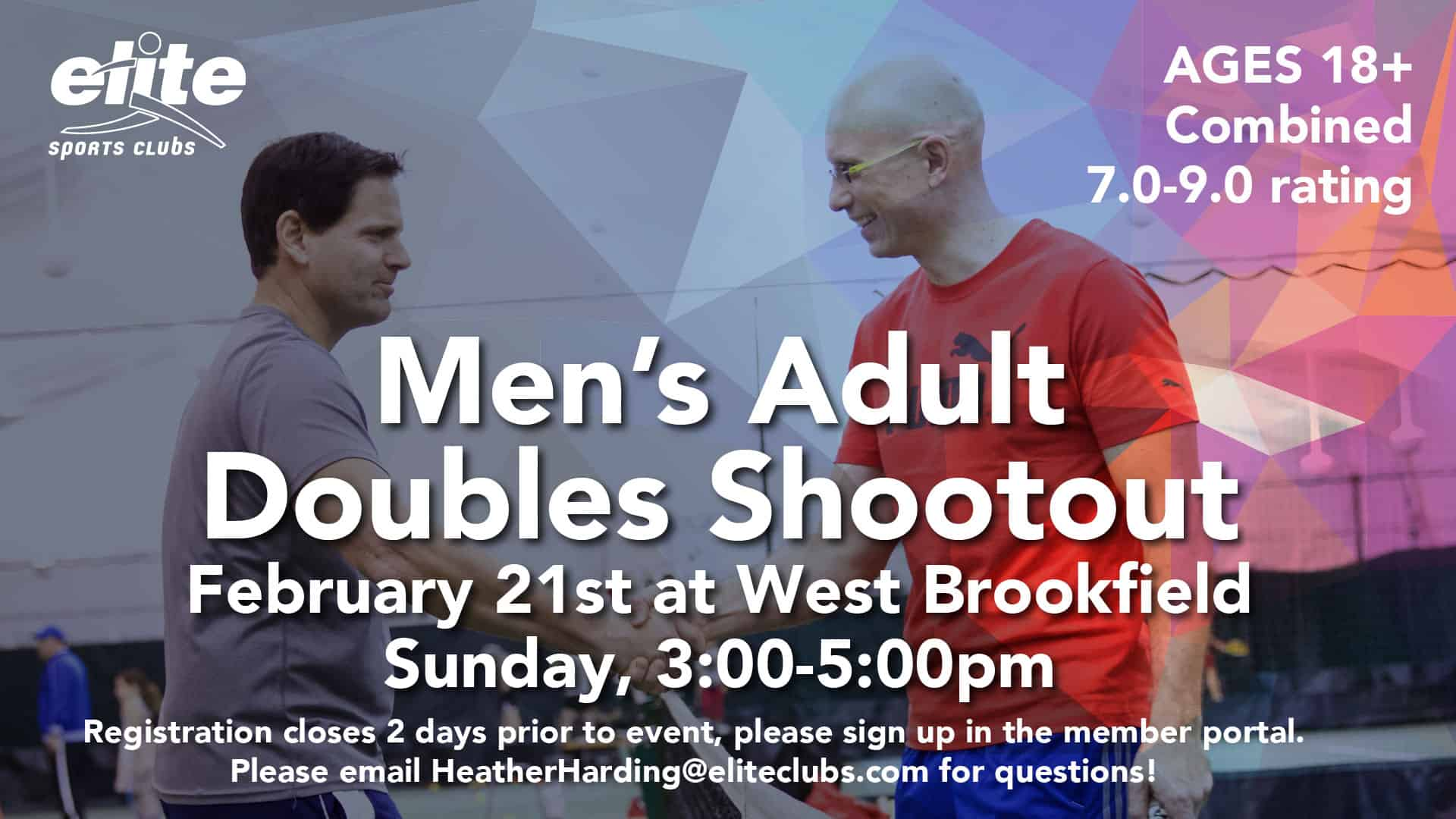 Mens Adult Doubles Shootout - Elite West Brookfield - February 2021