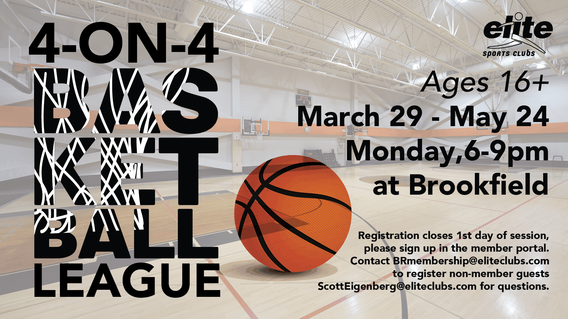 Basketball League - Elite Brookfield - Spring 2021