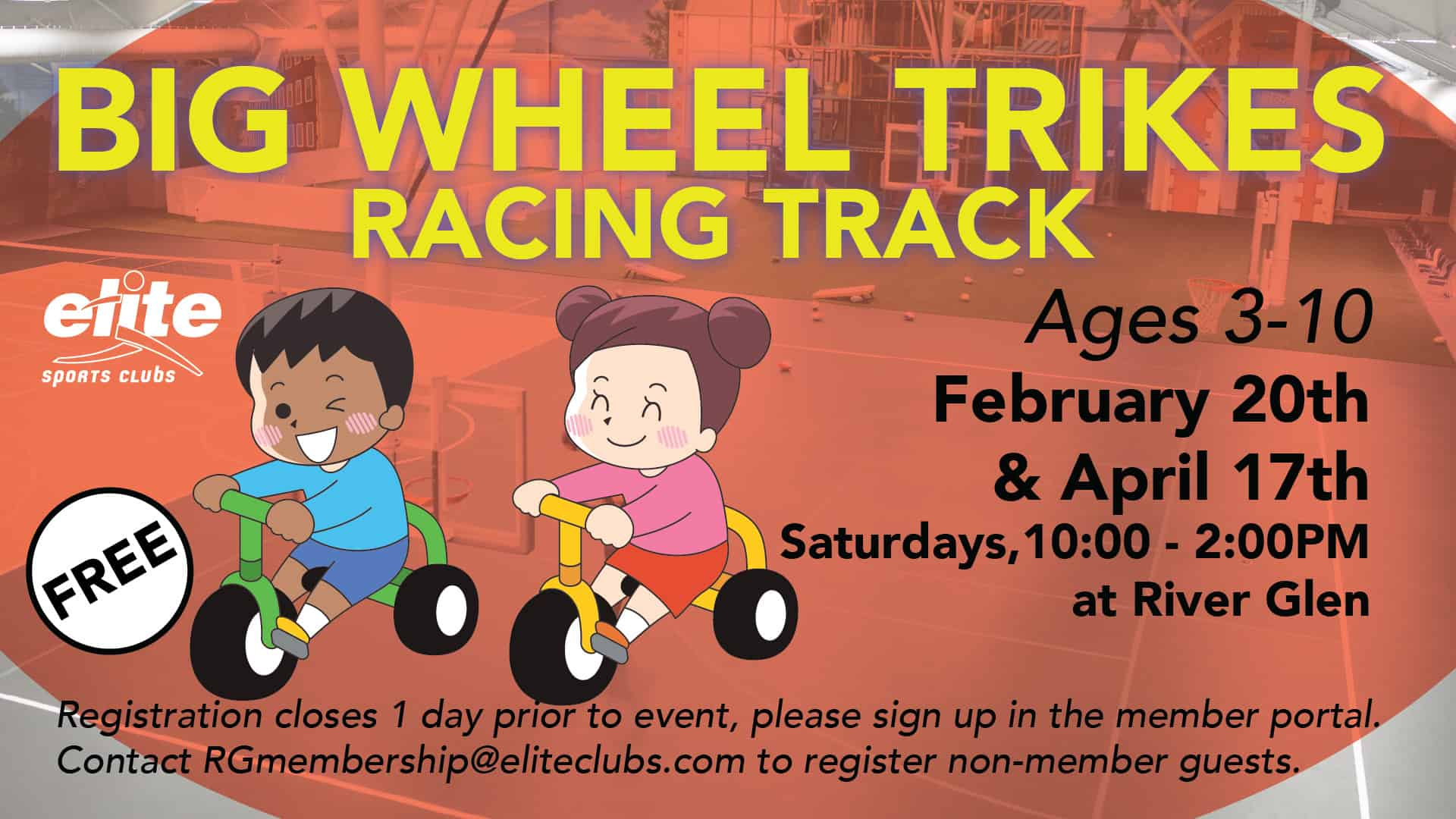 Big Wheel Trikes Racing Track - Elite River Glen - Spring 2021
