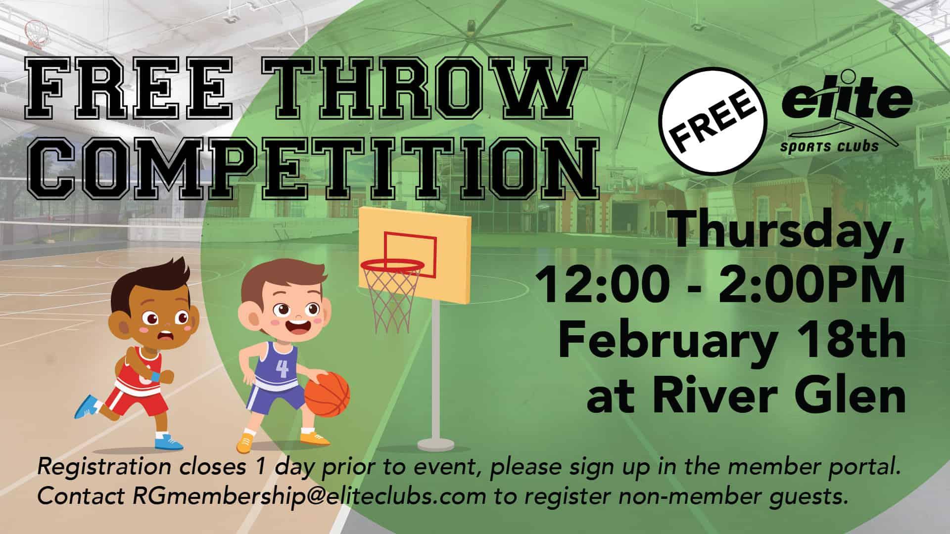 Free Throw Competition - Elite River Glen - February 2021
