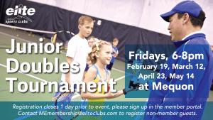 Junior Doubles Tournament - Elite Mequon - Spring 2021