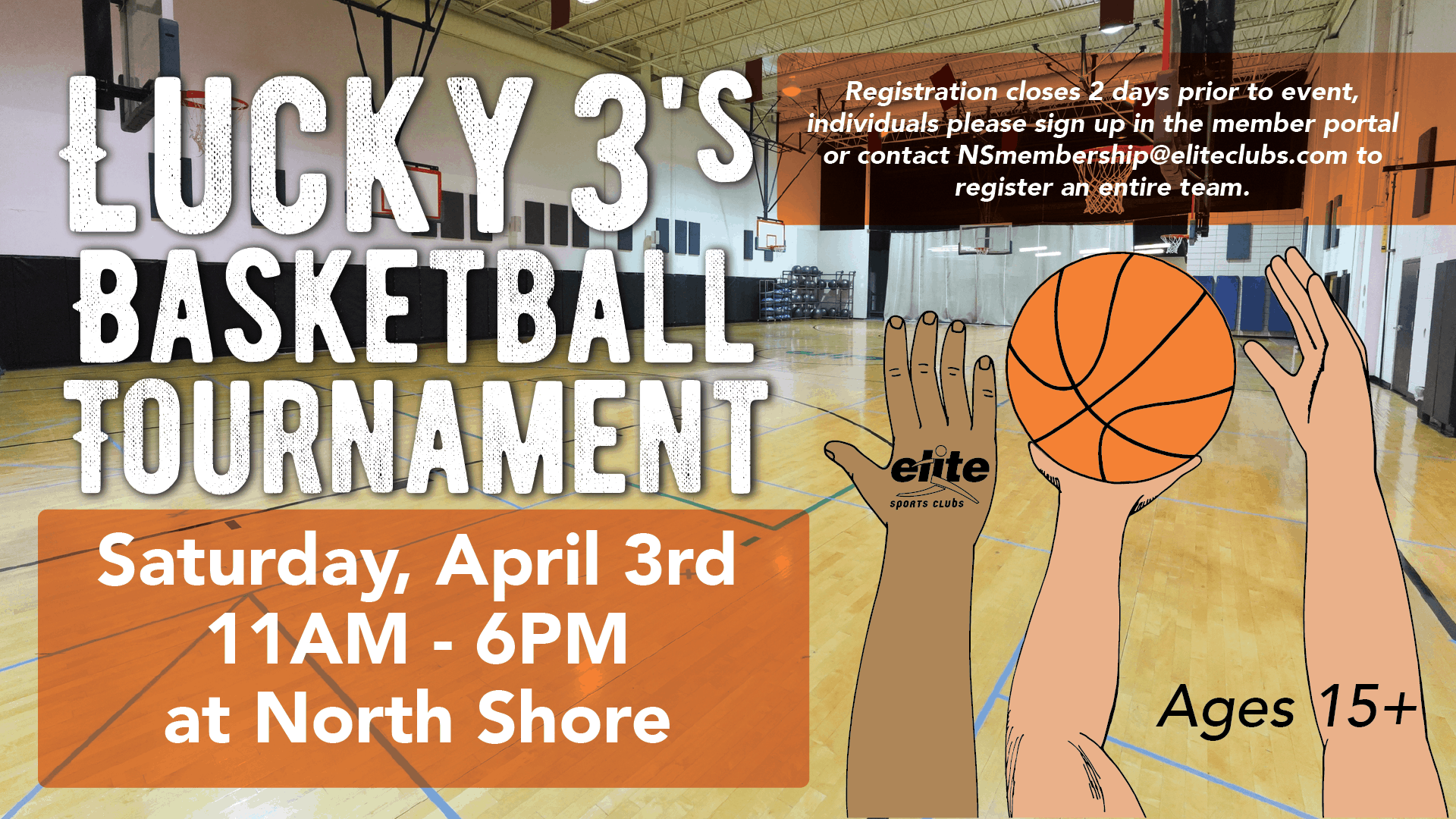 Lucky 3s Basketball Tournament - Elite North Shore - April 2021
